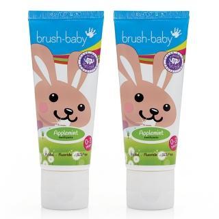 【英國brush baby】貝寶兔木糖醇牙膏(0-3歲/50mlx2)