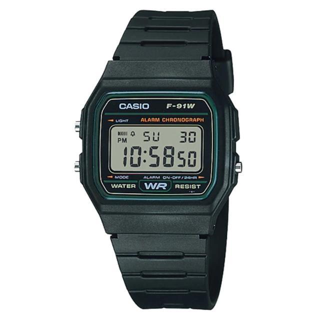 【CASIO】經典運動電子腕錶(F-91W-3A)