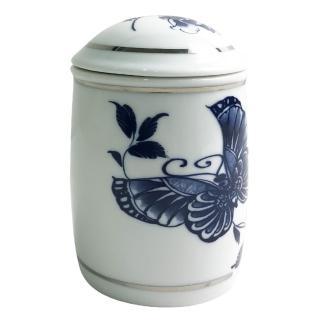 【青花皇后楊莉莉】陶瓷茶葉罐(白金)