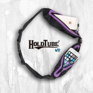 【HOLDTUBE】防潑水雙口袋(黑紫)