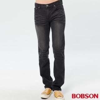 【BOBSON】男款保暖低腰直筒褲(1768-87)