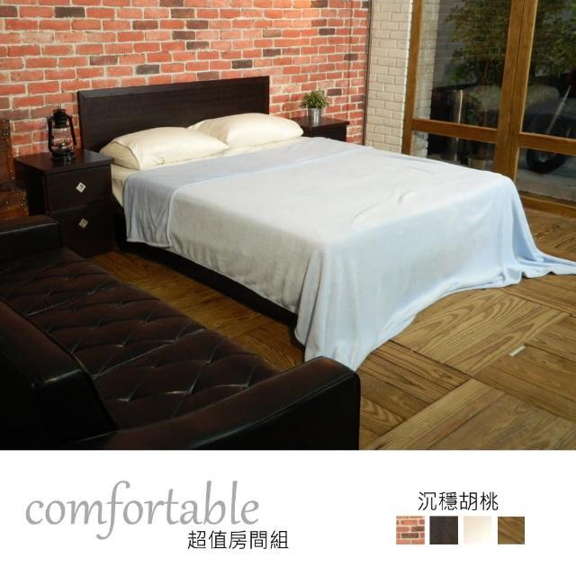 【時尚屋】喬伊絲床片型3件房間組-床片+床底+床頭櫃1個-四色可選(1WG5-22W)