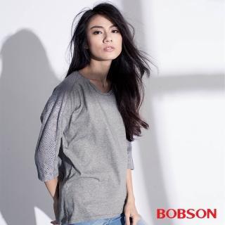 【BOBSON】女款搭配蕾絲布上衣(35072-82)