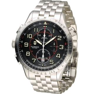【Victorinox 維氏】Airboss MACH 9 自動上鏈機械計時碼錶(VISA-241722)