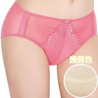 【思薇爾】撩波系列M-XXL蕾絲中腰三角褲(淺黃色)