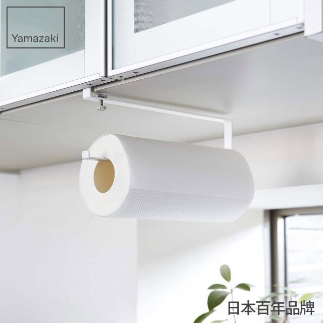 【日本YAMAZAKI】Plate層板廚房紙巾掛勾(白)/