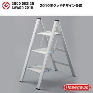 【長谷川Hasegawa設計好梯Narrow step設計傢俱梯】3階78cm銀白色(SJ-3SL)