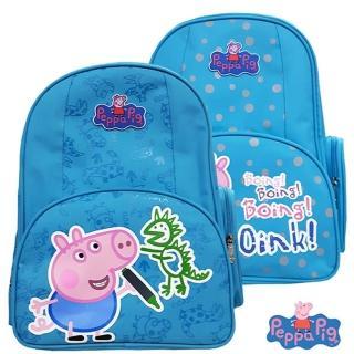 【Peppa Pig 粉紅豬/佩佩豬】佩佩豬-喬治護脊書包302C(恐龍款/氣球款_PP-5746)
