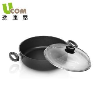 【UCOM 瑞康屋】德國AMT黑魔法不沾鍋雙耳含蓋(24cm)
