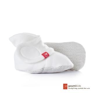 【美國 Goumikids】有機棉嬰兒腳套(點點-淺灰)