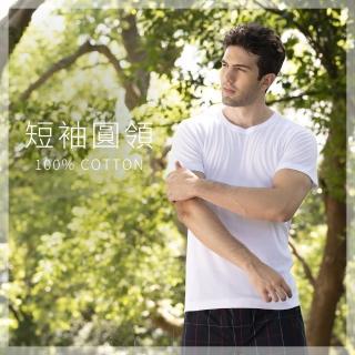 【SunFlower三花】短袖圓領內衣(100%全棉短袖男內衣)