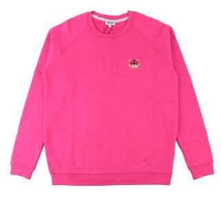 【KENZO】鋪棉小虎頭長袖上衣(桃粉色)