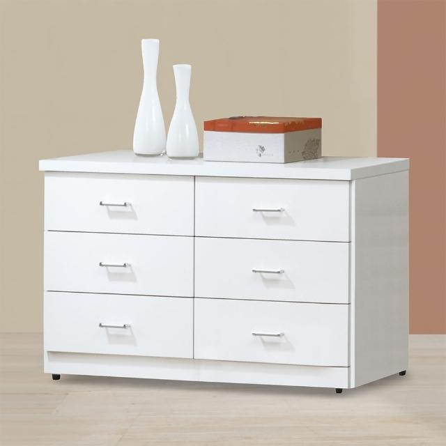 【Bernice】特斯4尺白色六斗櫃