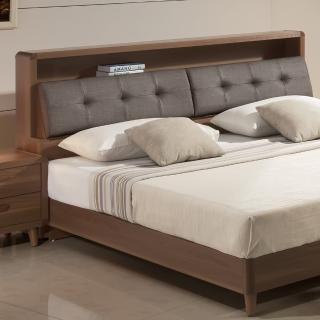 【日本直人木業】5尺標準雙人wood北歐生活收納床頭--不含床架