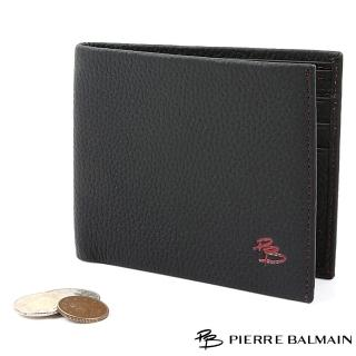 【PB皮爾帕門】精品頭層牛皮泡芙短夾-黑色(Leather Billforder)