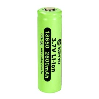 【KINYO】18650充電鋰電池x單入(CB-26)