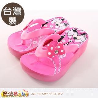 【魔法Baby】女童鞋 台灣製迪士尼米妮正版女童夾腳鞋(sh9659)