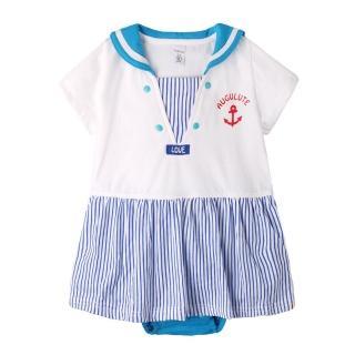 【baby童衣】任選 包屁裙 海洋風包屁裙 經典款連身衣 60020(寶藍)