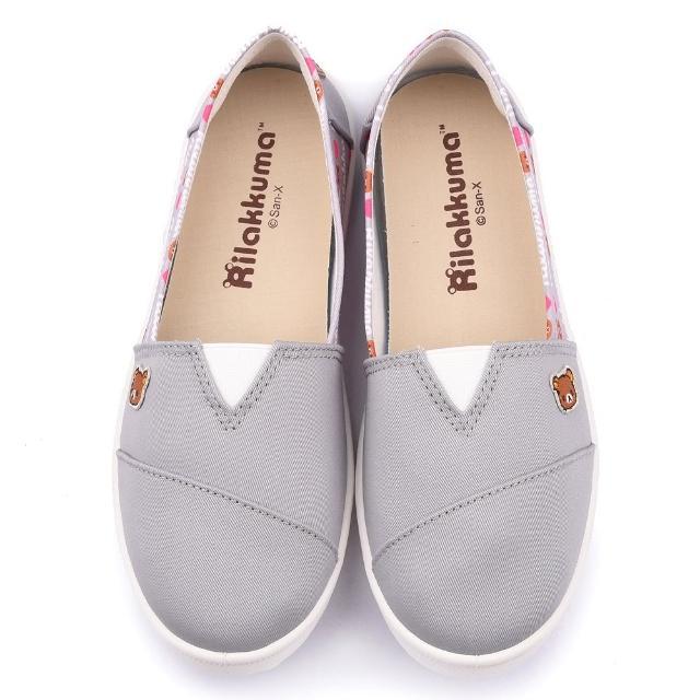 【童鞋城堡】拉拉熊 女款 素色簡約帆布休閒鞋(KM82029-灰)優質推薦