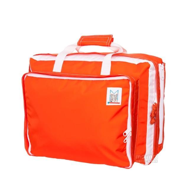 【MOKUYOBI】L.A 空運繽紛多功能筆電手提後背包-附贈電繡章- - 橘紅色(Bedford Bag)