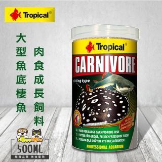【Tropical】大型魚、底棲魚肉食成長飼料(500ml)
