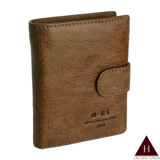 【H-CT】咖啡多層扣環式零錢真皮短夾(515#淺棕-Z)