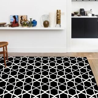 【范登伯格】圓舞曲 亮黑星空絲質地毯(140x190cm)