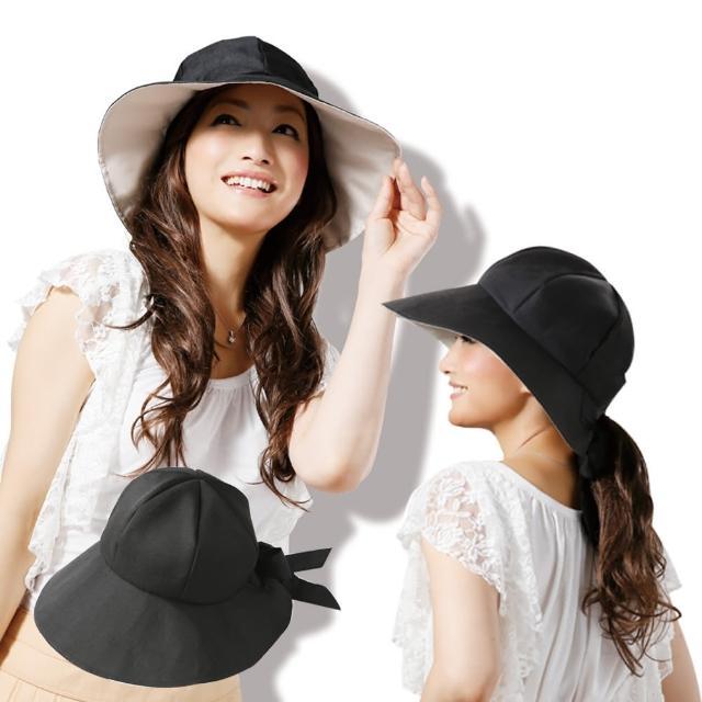 【日本Sunfamily】3用寬帽緣抗UV防風小顏帽超值推薦
