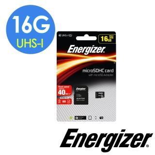 【Energizer 勁量】16GB UHS-I microSDHC 高速記憶卡(含轉卡)