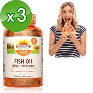 【Sundown 日落恩賜】高單位精純魚油200粒(3瓶組)