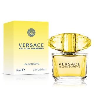 【Versace凡賽斯】組合-香愛黃鑽女性淡香水小香(5ml)