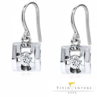 【Vividventure 亞帝芬奇】20分 八心八箭 天然真鑽 鑽石耳環 都會時尚(14K金台)