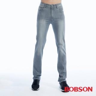 【BOBSON】男款高腰膠原蛋白彈性直筒褲(1820-85)
