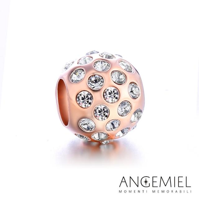 【Angemiel安婕米】925純銀珠飾 晶耀 固定珠(玫瑰金)物超所值