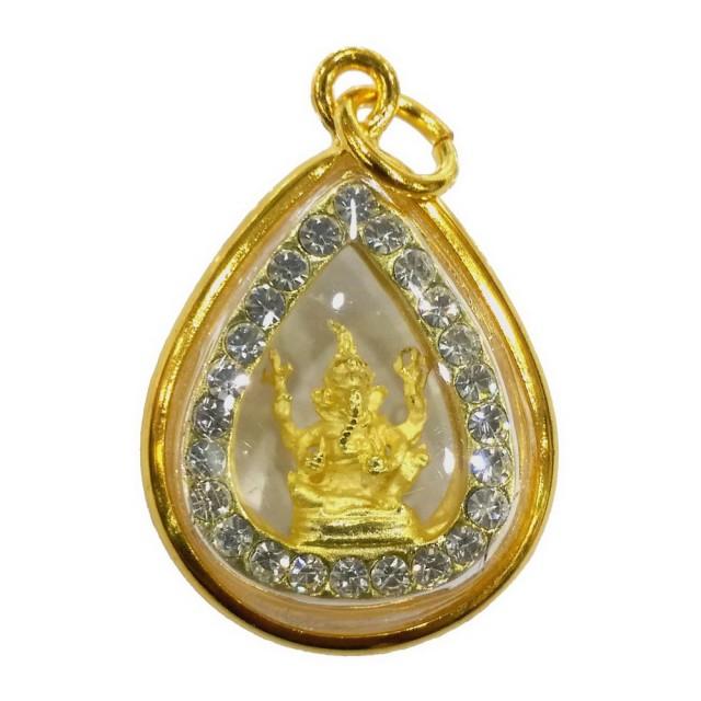 【十相自在】3.1公分 小佛像/法像 水晶佛龕掛墜吊飾-金色(象鼻神)超值商品