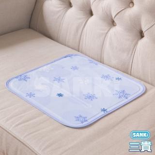 【日本SANKI】雪花紫 冰涼枕坐墊1入 可選(雪花紫、雪花藍、薰衣草風、小樹風、素面藍)
