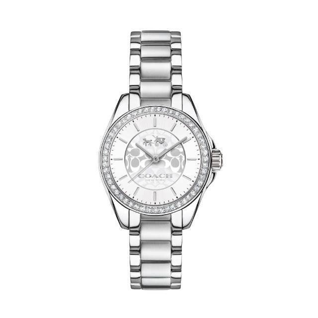 【COACH】耀眼迷人時尚腕錶(銀/14502464)