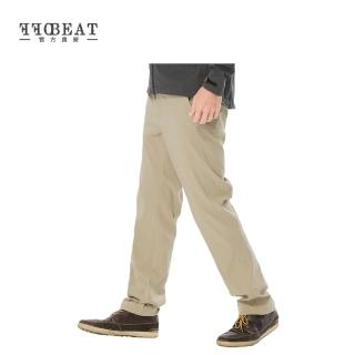 OFFBEAT 男款Anti-UV俐落彈性休閒長褲 - 黑色