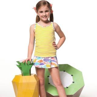 【SARBIS】泡湯SPA戲水女童二件式泳裝(附泳帽B82607)