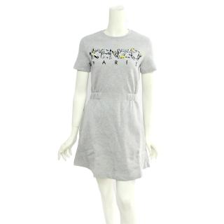 【KENZO】logo短袖厚棉洋裝(灰色)