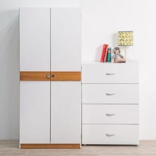 【TZUMii】日式雙門造型飾條衣櫃(衣櫥)