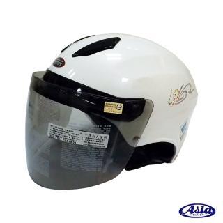 【ASIA】A609 螺絲款式 摩登安全帽(珍珠白)