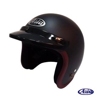 【ASIA】A706 精裝素色寬條安全帽(平黑/紫)