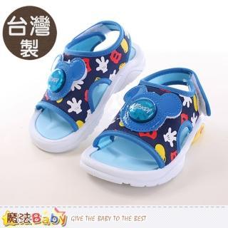 【魔法Baby】童鞋 台灣製迪士尼米奇正版閃燈涼鞋(sh9811)