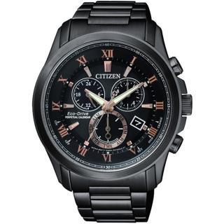 【CITIZEN 星辰】亞洲限量光動能萬年曆羅馬時標腕錶(BL5545-50E)