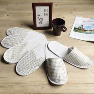 【iSlippers】輕便格紋紙拖鞋(30雙組)