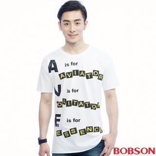 【BOBSON】男款捲邊造型上衣(26032-80)
