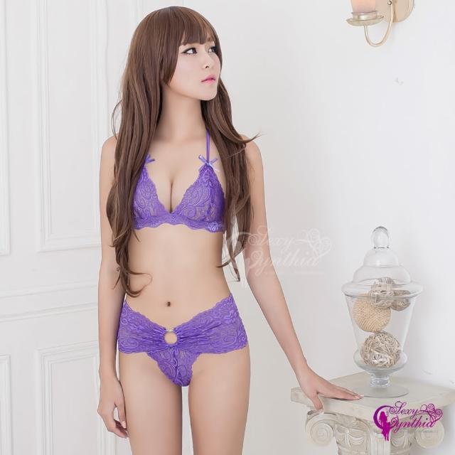 【Sexy Cynthia】情趣內衣 紫羅蘭綁脖比基尼二件組