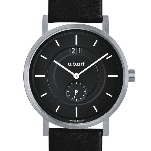 【a.b.art】O系列 包浩斯基本經典腕錶-黑/40.5mm(abart-O602)