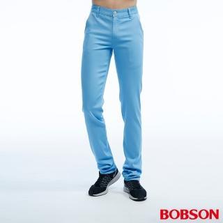 【BOBSON】男款低腰吸濕快乾色褲(藍1805-53)